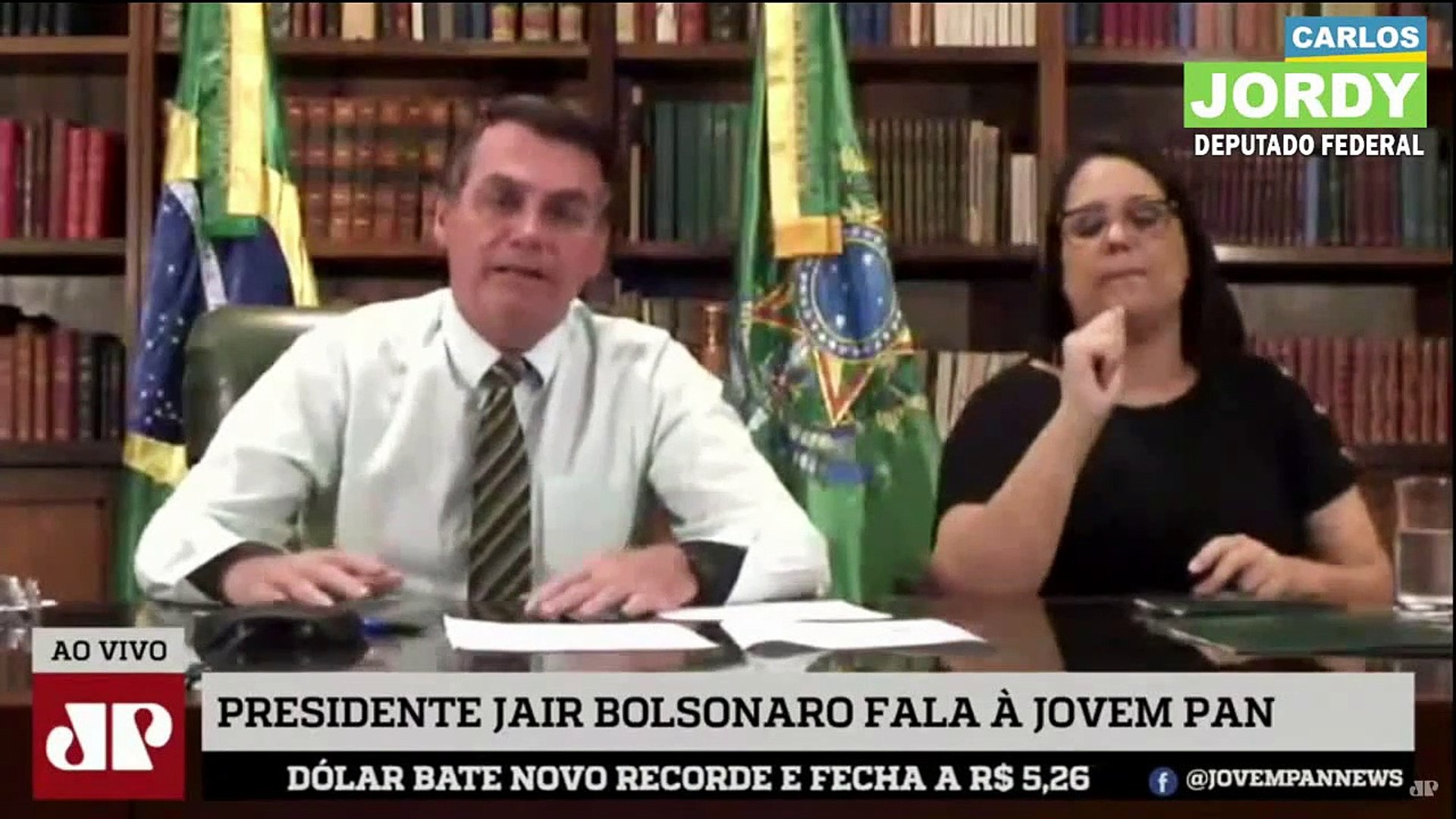 Os Pingos Nos Is - Exclusiva com Jair Bolsonaro - 02 04 2020
