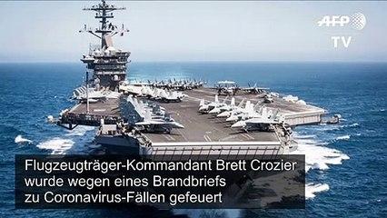 """""""USS Theodore Roosevelt"""": Besatzung feiert gefeuerten Kapitän"""