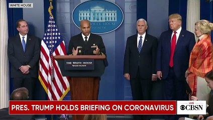 Us president Donald Trump and Coronavirus Task Force hold briefing at the White House