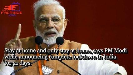 PM Modi Speech Live Updates- 'Stay where you are,' says PM Modi while declaring complete lockdown