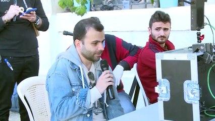 نواعم تلتقي بعبير نعمة في كواليس تصوير فيديو كليب أغنيتها الجديدة
