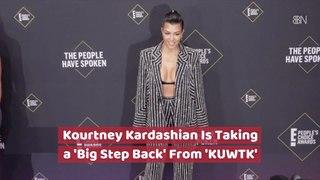 Kourtney Kardashian Takes A Step Back