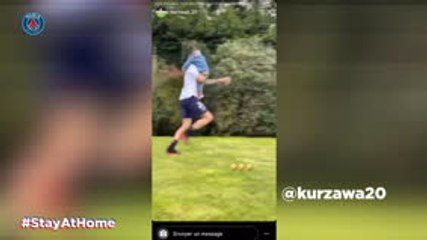 PSG players busy on social media with no football to play