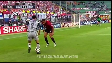 AC Milan v PSV Eindhoven 2-0 - #UCL 2004 05 - Highlights (English Commentary) - Full HD 1080p 60fps
