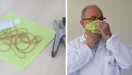 Coronavirus : voici comment faire un masque en quelques minutes sans machine à coudre