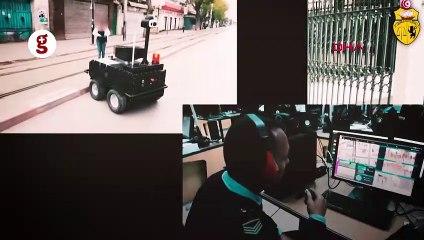 Tunus'ta sokağa çıkma yasağı kontrolünü robotlaryapıyor