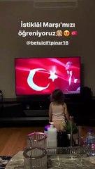 Sadık Çiftpınar'ın kızı İstiklal Marşı'nı söyledi