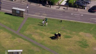 Police move people along at London's parks