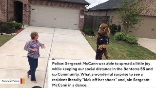 Dancing Cop In Costume Brings Cheer To Senior Community Amid Coronavirus Lo...