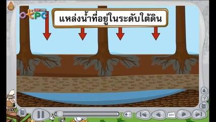 สื่อการเรียนการสอน แหล่งน้ำใต้ดิน ป.3 วิทยาศาสตร์