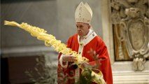 Pope Celebrates Palm Sunday Services In Empty St. Peter's Basilica