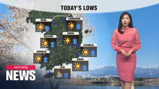 [Weather] Chilly start, readings return to norms