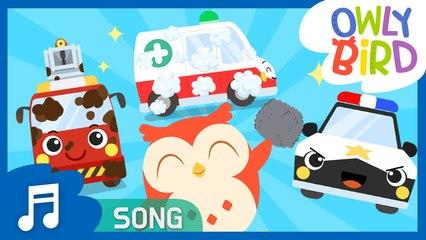 Car Wash Song | Car wash with OwlyBird | Nursery Rhymes  | OwlyBird | Songs For Kids