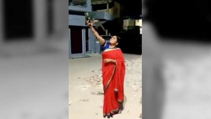 UP BJP leader shoots celebratory shot during 9baje9minute