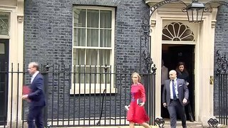Matt Hancock and Dominic Raab depart Downing Street