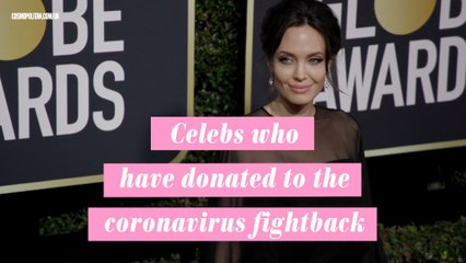 Celebs who have donated to fighting the pandemic