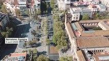 Coronavirus : les rues désertes de Barcelone vues du ciel