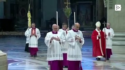 Pope Francis celebrates Palm Sunday alone in Saint Peter