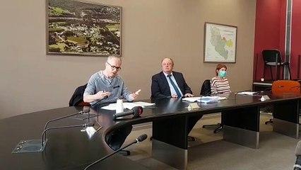 Conférence de presse à l'hôpital Robert Pax de Sarreguemines