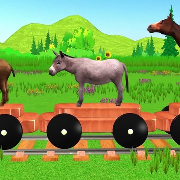 Domestic Animals Wooden Train Toy For Kids