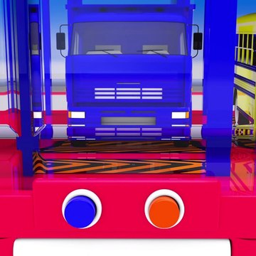 Learn Colors With Animal - Big Bus Toy and Hot Wheels Toy Cars for Kids to Learn Colors for Children, Learning Kids Videos