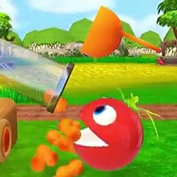 Kids Toy Videos US - Pacman Hulk encontrar Bunny molde-superhéroe PACMAN rodando alrededor de la granja comen sandía Ball