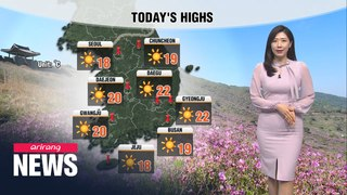[Weather] Sunny and dry spell to stay