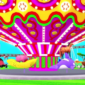 Learn Colors With Animal - Domestic Animals Outdoor Playground For Kids - Cartoons For Children