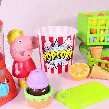 Kids Toy Videos US - PEPPA PIG ❤️ Hacemos helados de colores con Peppa Pig hechos con frutas