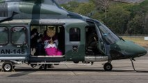 Coronavirus: Panama's archbishop delivers Palm Sunday blessings from helicopter amid pandemic