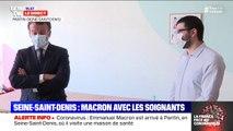 """Emmanuel Macron à propos des masques : """"Ce qu'on pensait sans valeur il y a un an, d'un seul coup on est en rareté"""""""