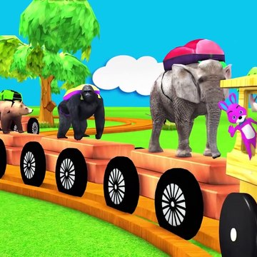 Learn Wild Animals Go To School On Wooden Train Toys For Kids