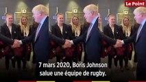 Coronavirus : les (trop) nombreuses poignées de mains de Boris Johnson