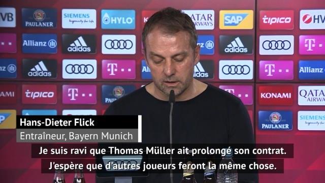 Bayern - Après Müller, Flick espère d'autres prolongations