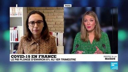 Covid-19 en France : Le pays officiellement en récession, le PIB plonge d'environ 6 % au premier trimestre