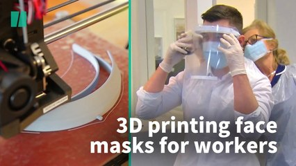 3D Printers Being Used To Make Face Masks For Workers