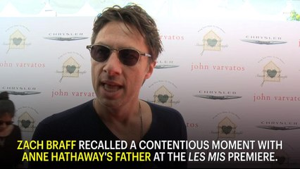 Zach Braff Recalls the Time Anne Hathaway's Dad Almost Fought Him at the 'Les Mis' Premiere