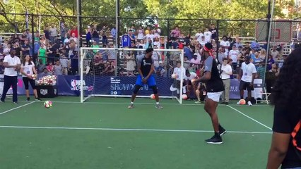 NBA Stars play soccer in NYC