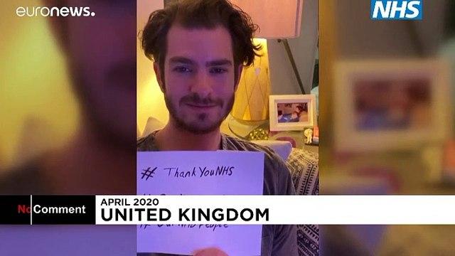 'You're brave and wonderful people': Celebrities hail UK health workers amid coronavirus pandemic