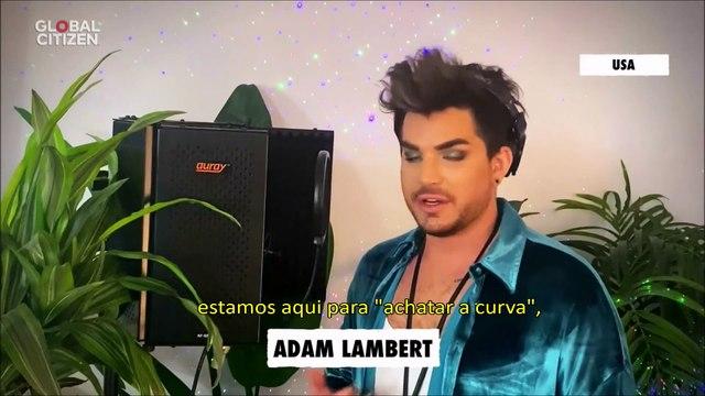 """Recado de Adam Lambert antes da sua performance no  """"Global Citizen – One World: Together At Home""""  - 18/04/20 - legendado"""