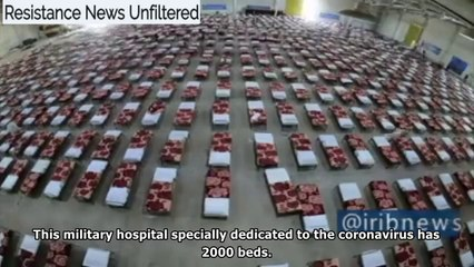 Coronavirus: Iranian military builds 2,000-bed hospital in 48 hours