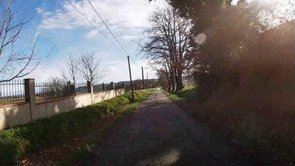 Balade en moto vallée de La LEZE