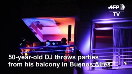 Balcony DJ keeps Buenos Aires moving during COVID-19 lockdown