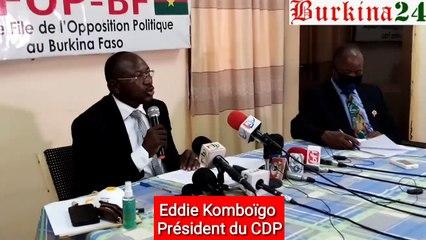 Le président du CDP, Eddie Komboigo se prononce sur la gestion du Covid-19.