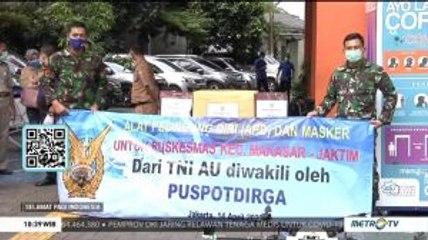 Puspotdirga TNI AU Berikan Bantuan APD ke Puskemas di Jaktim