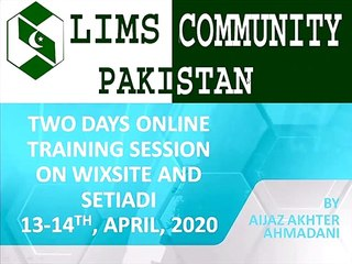 First Session Two Days Online Training, How to make digital library on wixsite and Setiadi(Part-i)