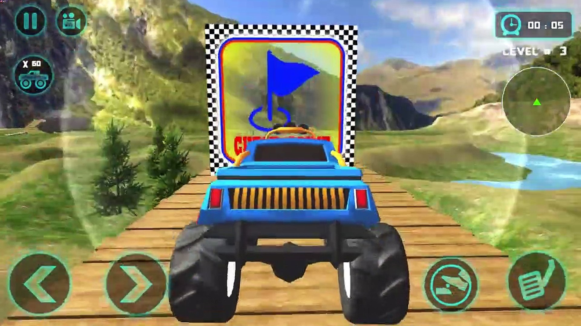 Offroad Monster Truck Drive 2020 - 4 x 4 Mountains Uphill Jeep Car Game - Android GamePlay