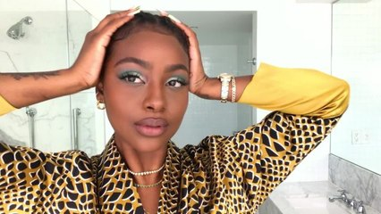 Justine Skye Shares Her Guide to Electrifying Green Eyeshadow—And a Beauty Secret She's Never Told Anyone