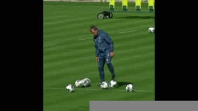 Le Bayern respecte les distances de sécurité à l'entraînement