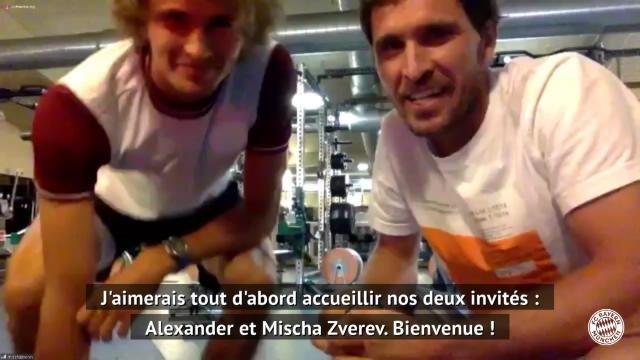 Bundesliga - Alexander et Mischa Zverev participent au cyber-entraînement du Bayern